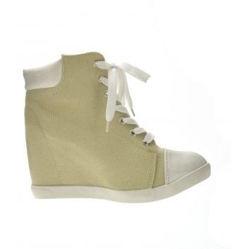 Pantofi Sport Limon Bej cu platforma