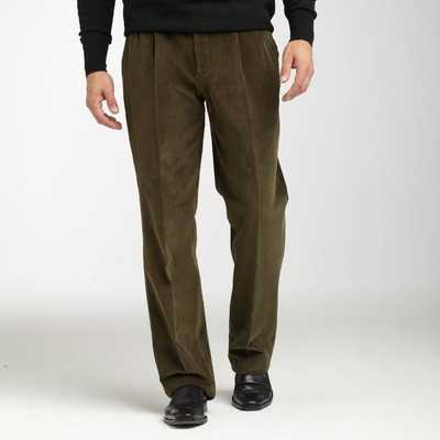 Pantaloni cu pense 2x2 si betelie reglabila pentru barbati