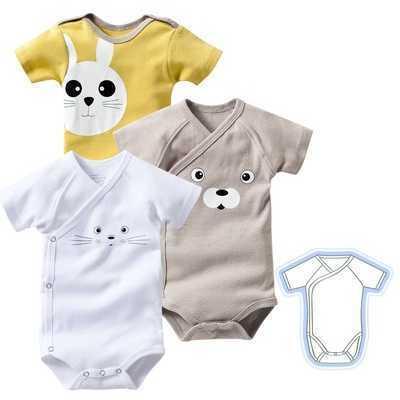 Set de 3 body-uri cu maneci scurte din bumbac bebelusi