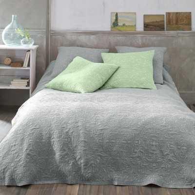 Cuvertura pentru pat cu motiv floral si aspect macat