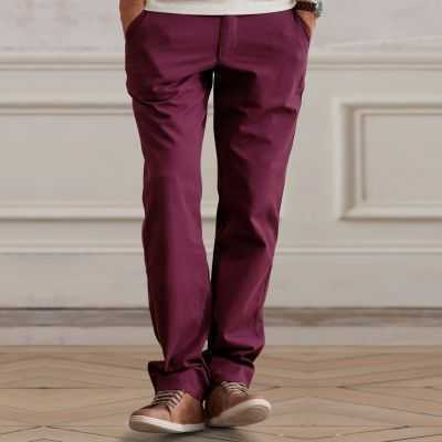 Pantaloni chino fara pense 3 SUISSES COLLECTION din bumbac