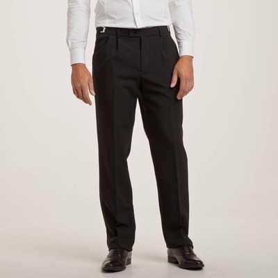 Pantaloni cu pense 2x2 si betelie reglabila pentru barbati cu croiala clasica