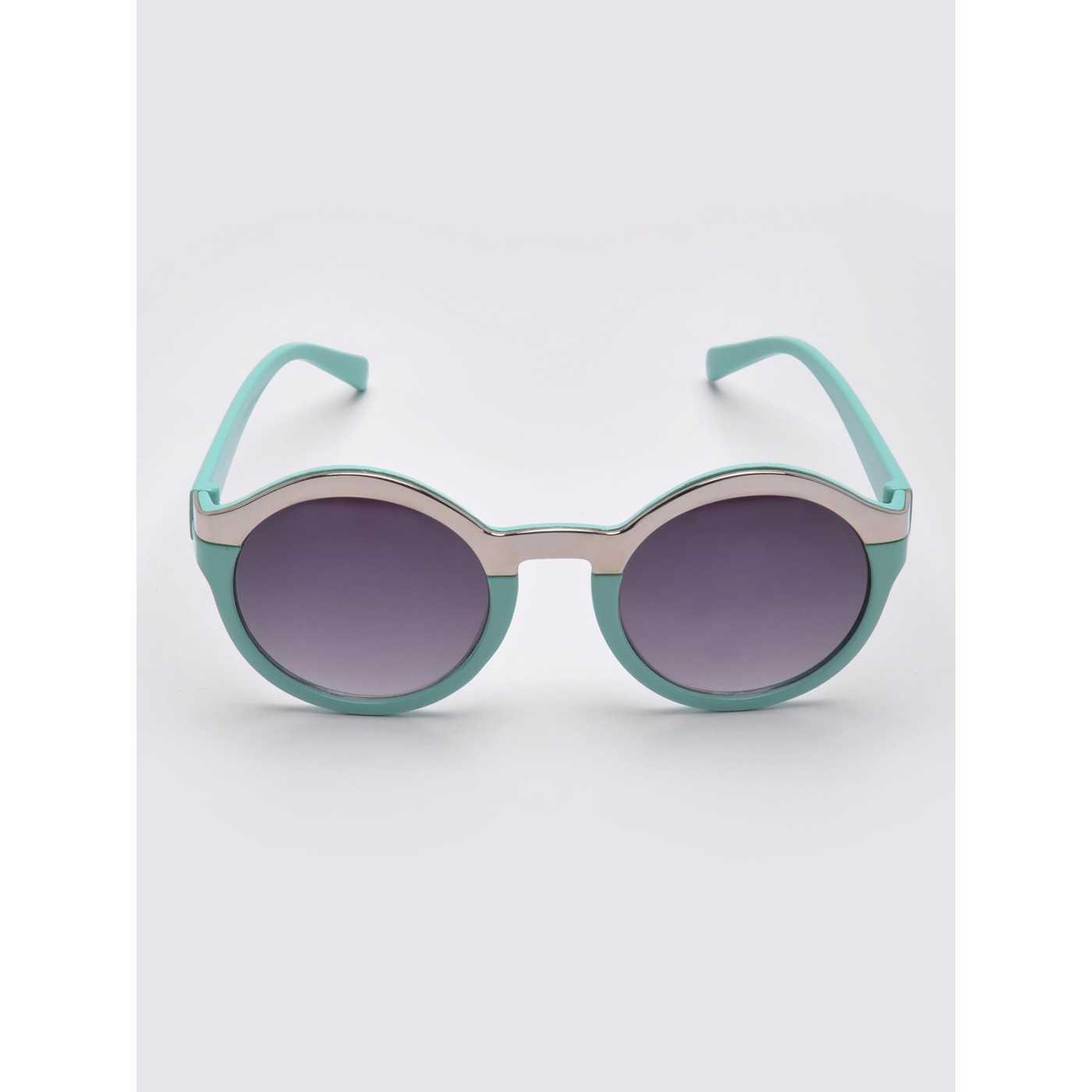 Ochelari de soare cu rame verzi si lentile violet