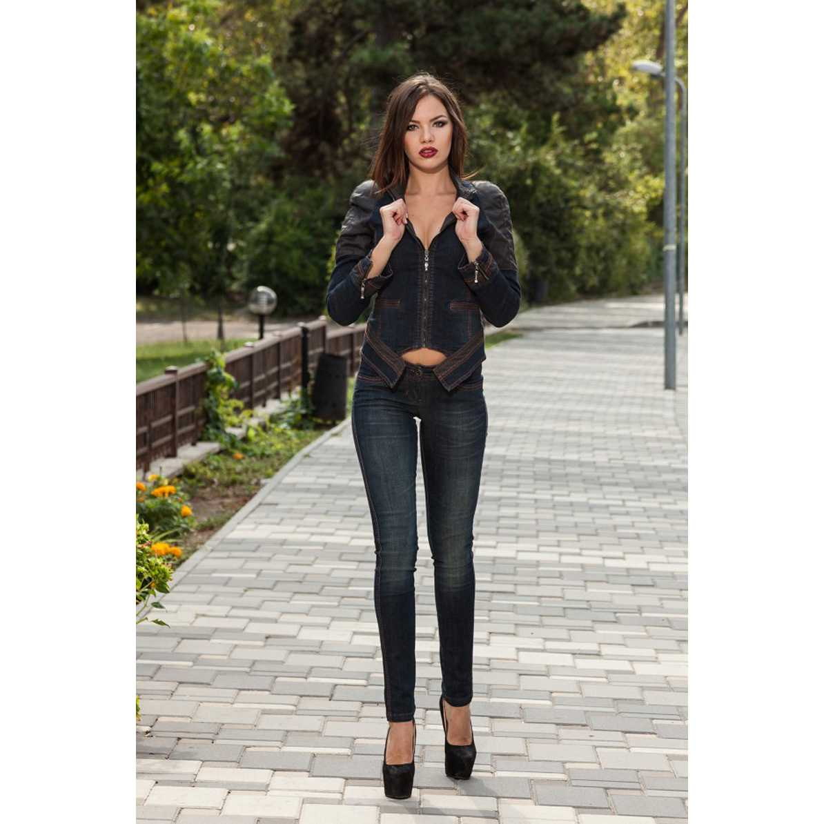 Pantaloni Jeans Albastri