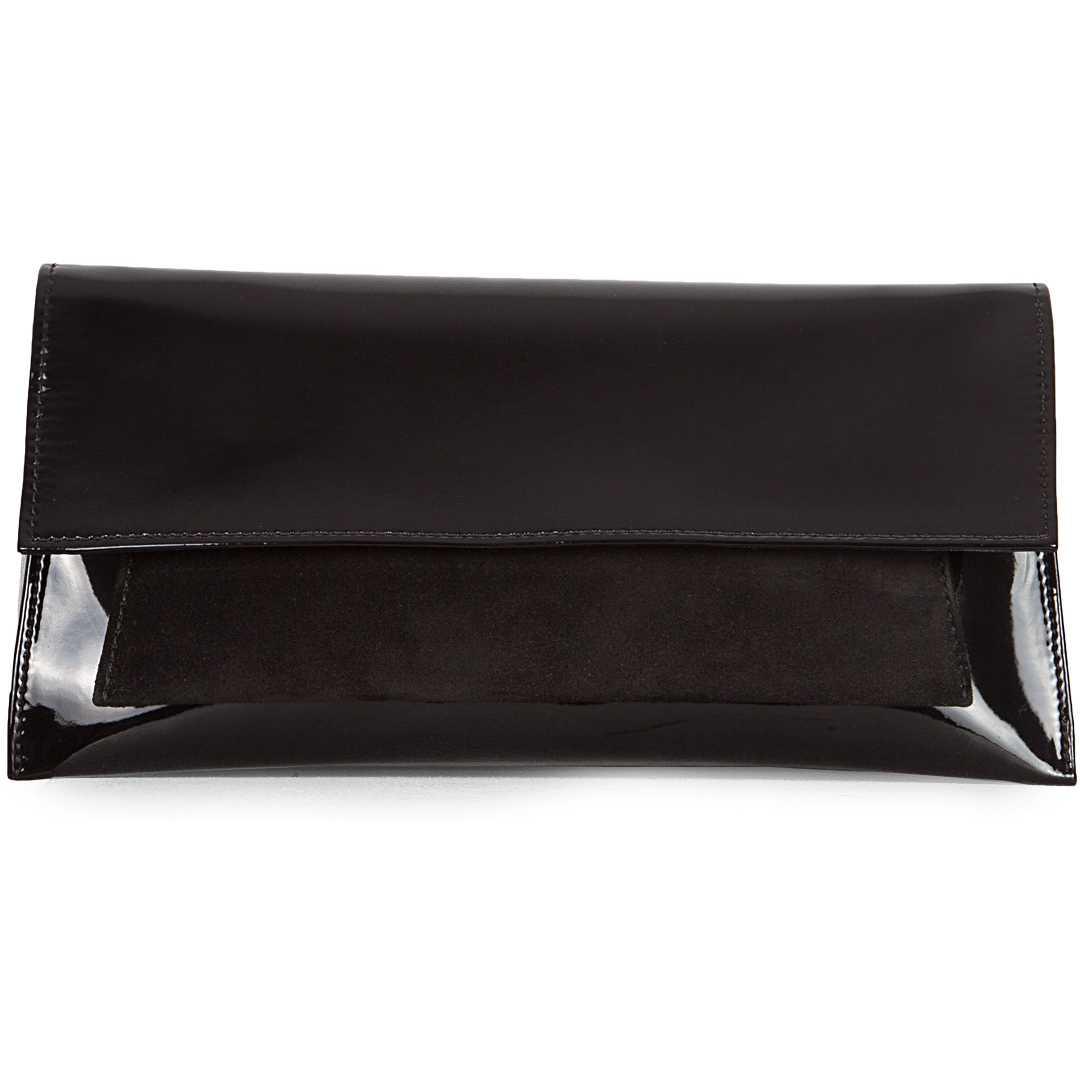 Plic negru din piele lac model LAURA11