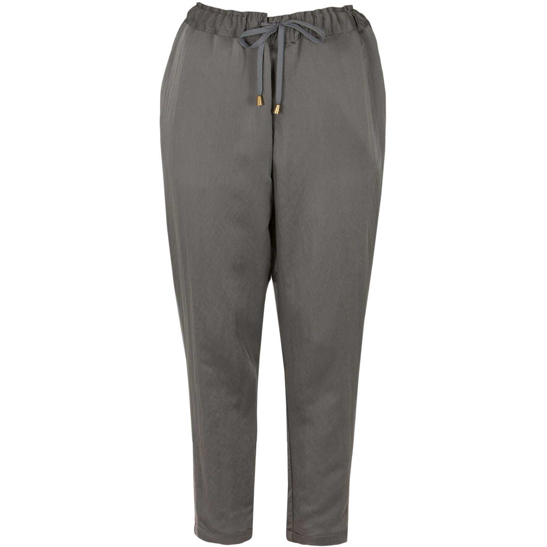 Pantaloni gri cu snur model D1704