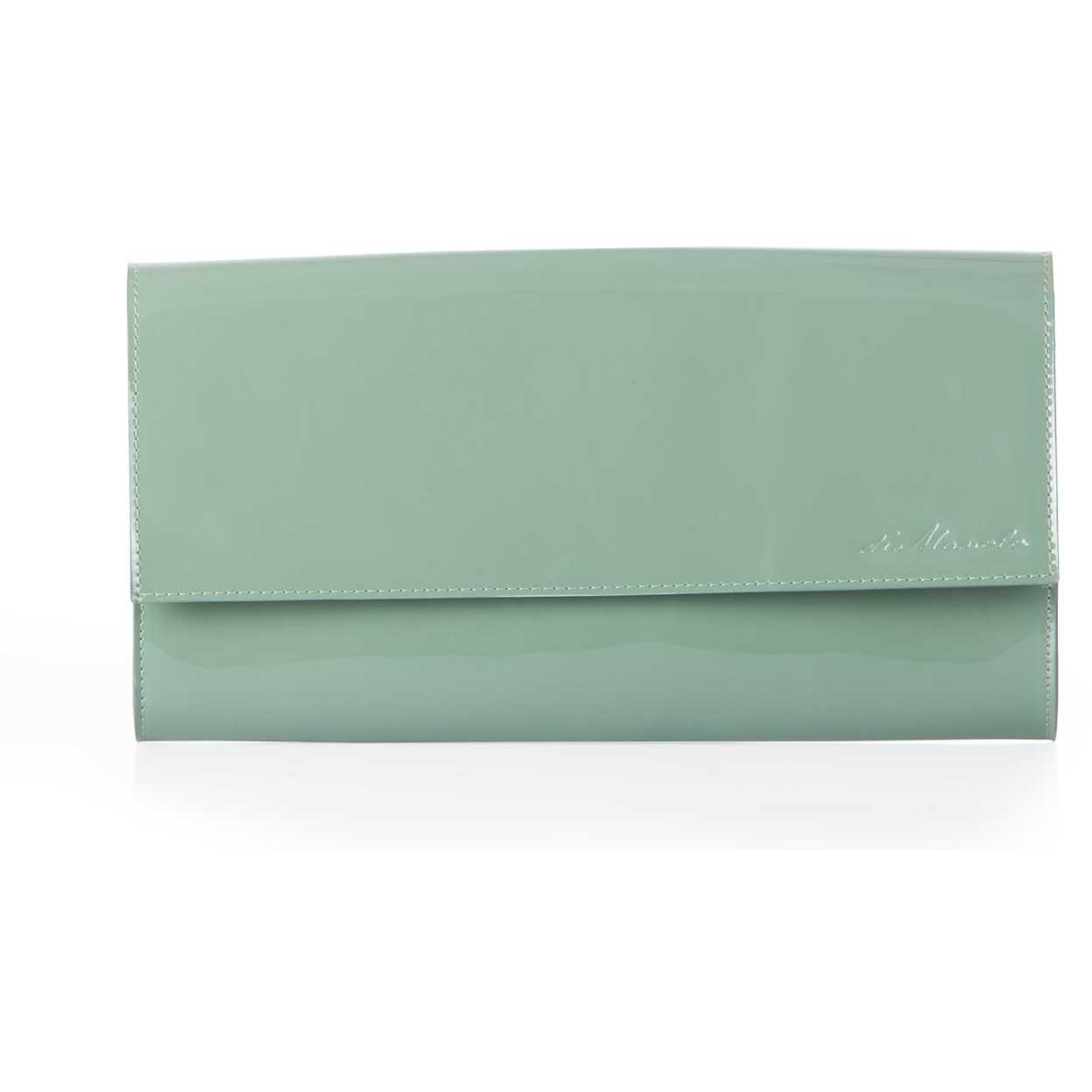 Plic DiManolo verde din piele naturala lacuita SUMMER2014FISTIC