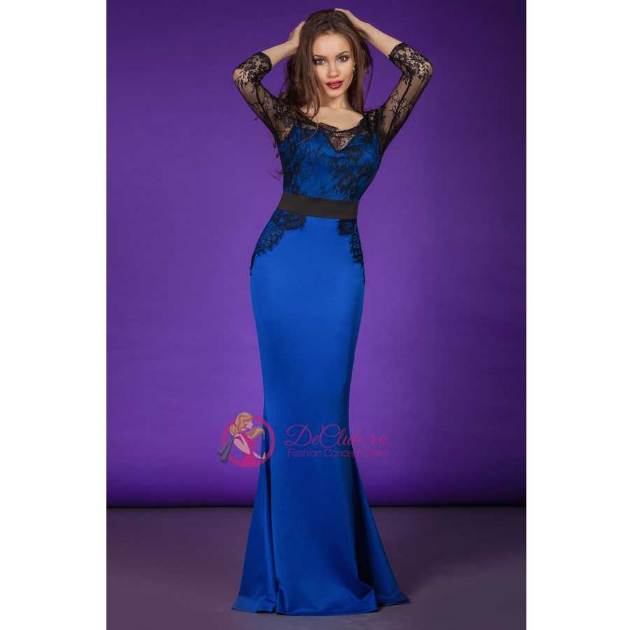 Reducere Rochii Elegante Scarlett Albastre Declub Romania