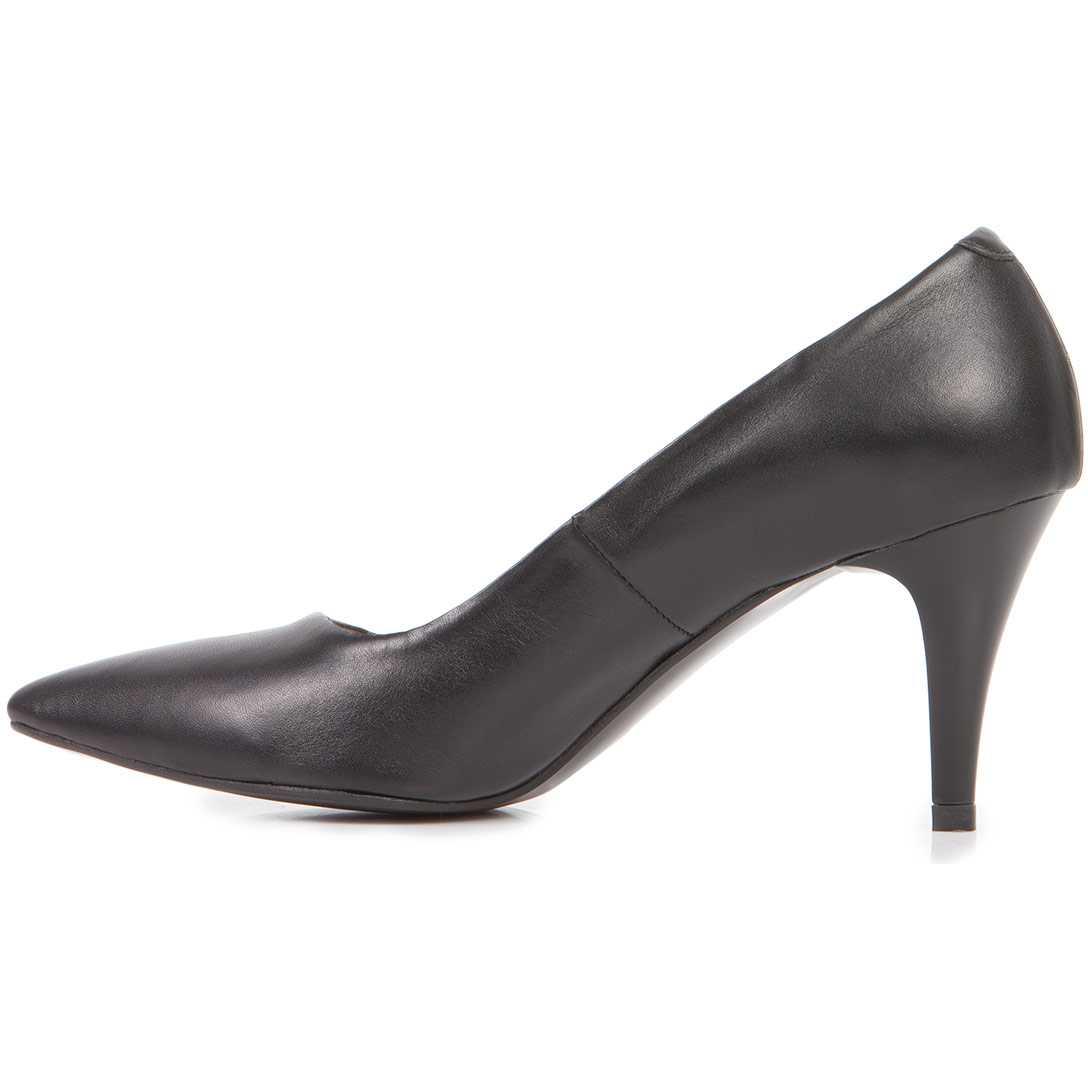 Pantofi negri stiletto din piele naturala model PP-2310