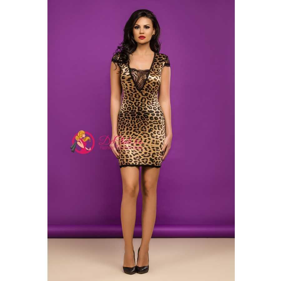 Rochie de club Leopard Mini