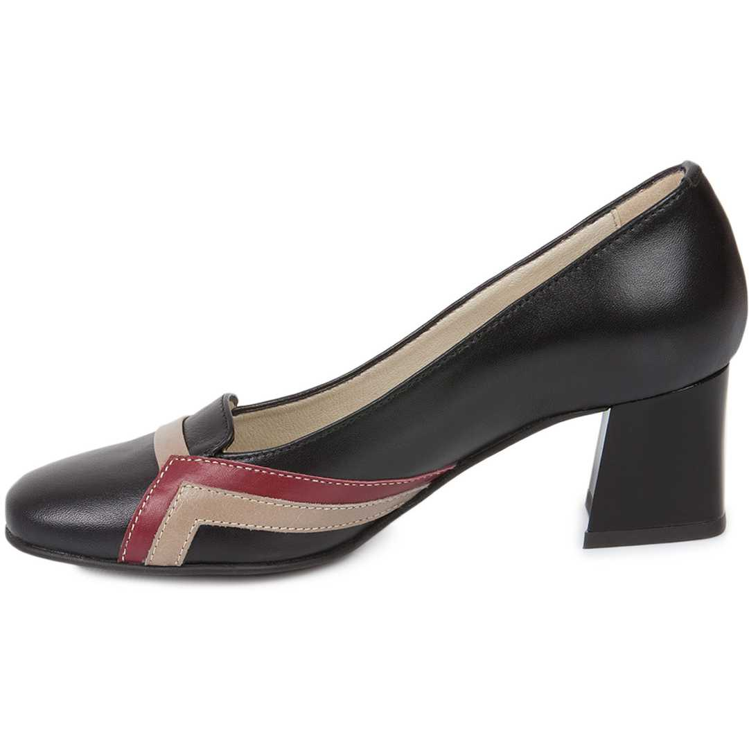 Pantofi negri din piele naturala model 248
