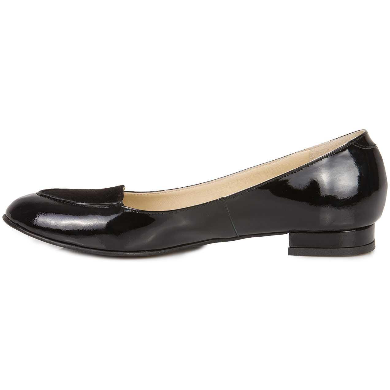 Pantofi negri din piele naturala model M52