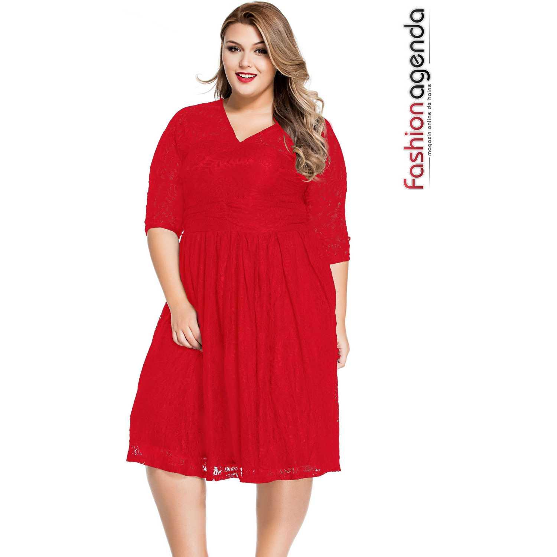 Rochie XXL Desire 66 Red
