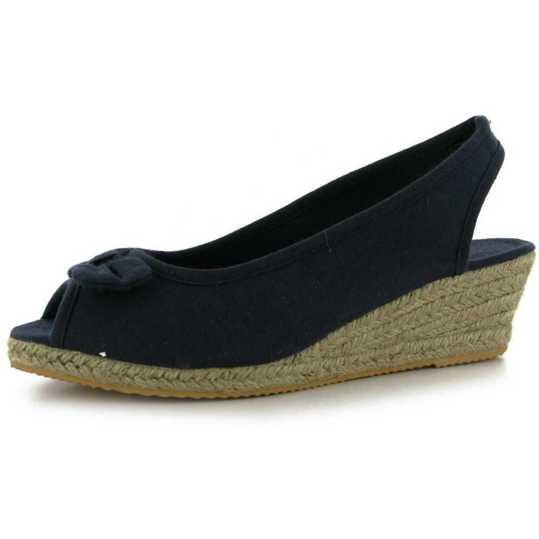 Sandale moderne, de culoare bleumarin-Miss Fiori