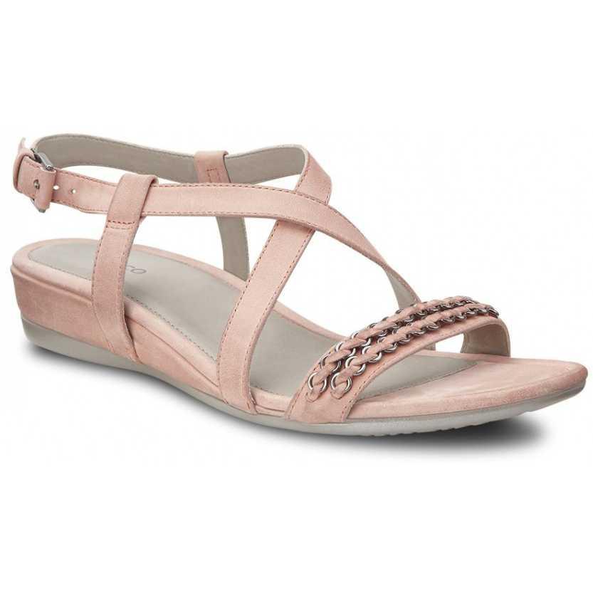 Sandale elegante dama din piele de vitel ECCO Touch 25 S (coral)