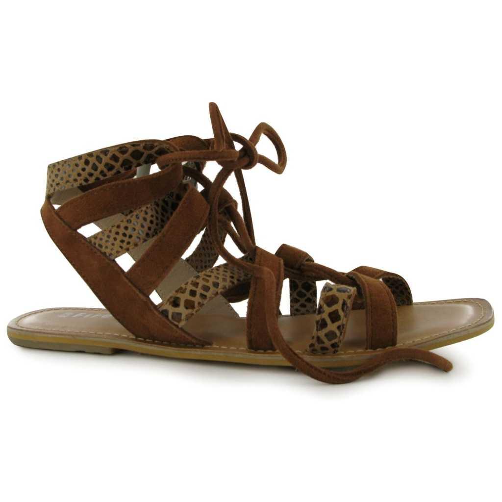 Sandale trendy, de culoare maro, cu siret-Firetrap