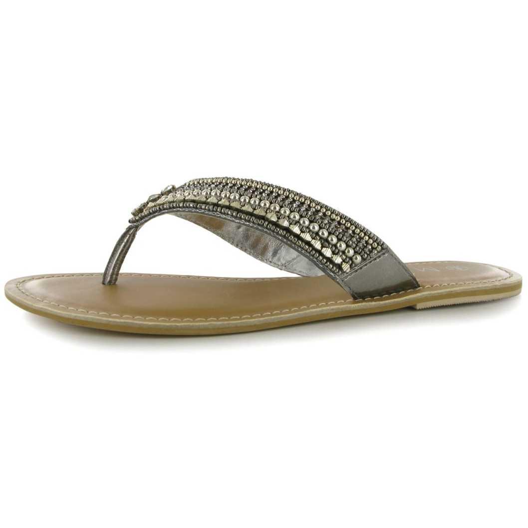 Slapi trendy, cu accesorii argintii-Miso