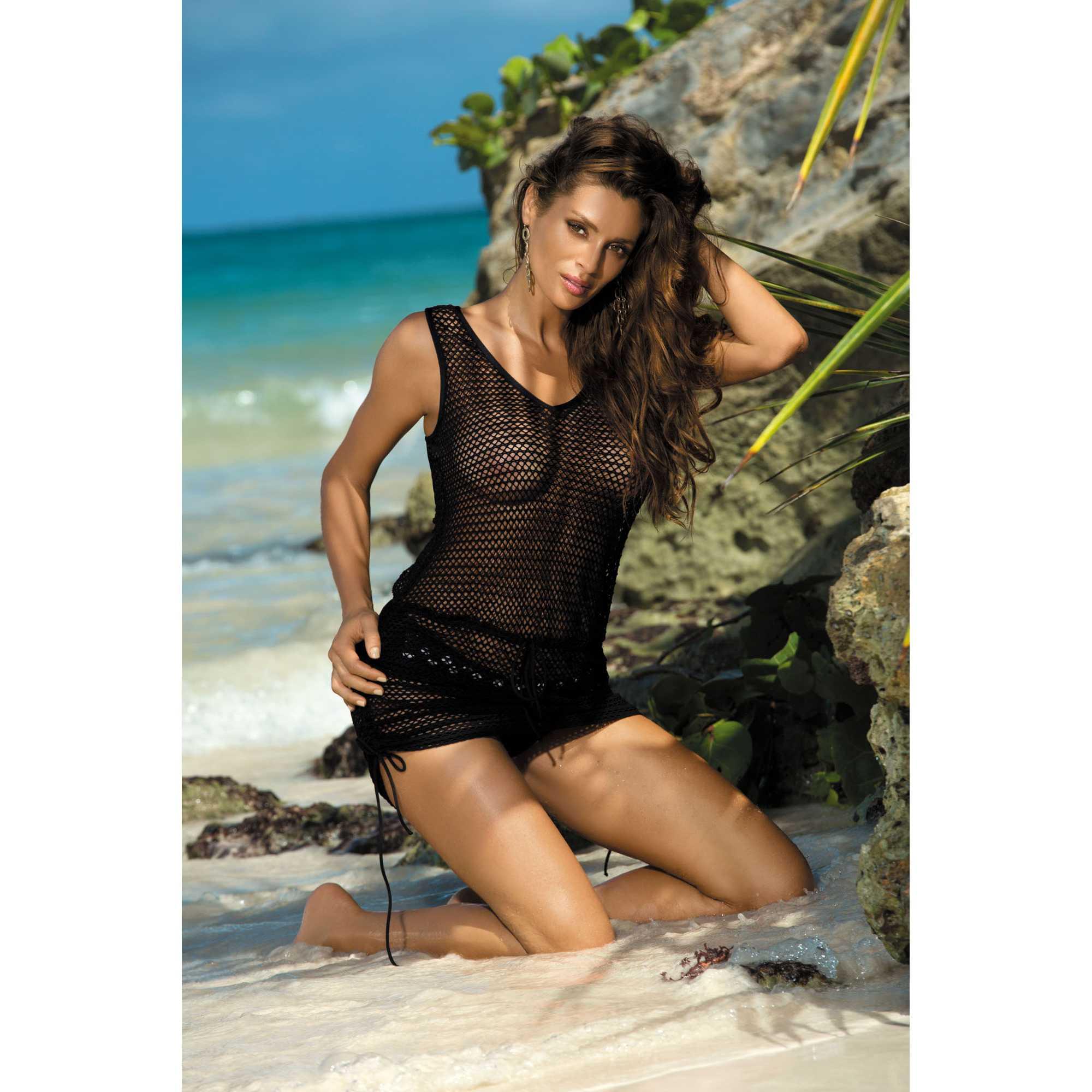 Rochie de plaja Rose black