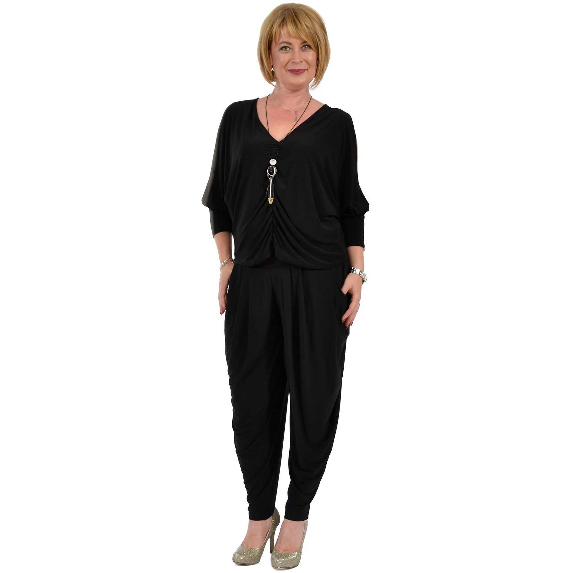 Pantaloni dama lejeri negri P005-NR