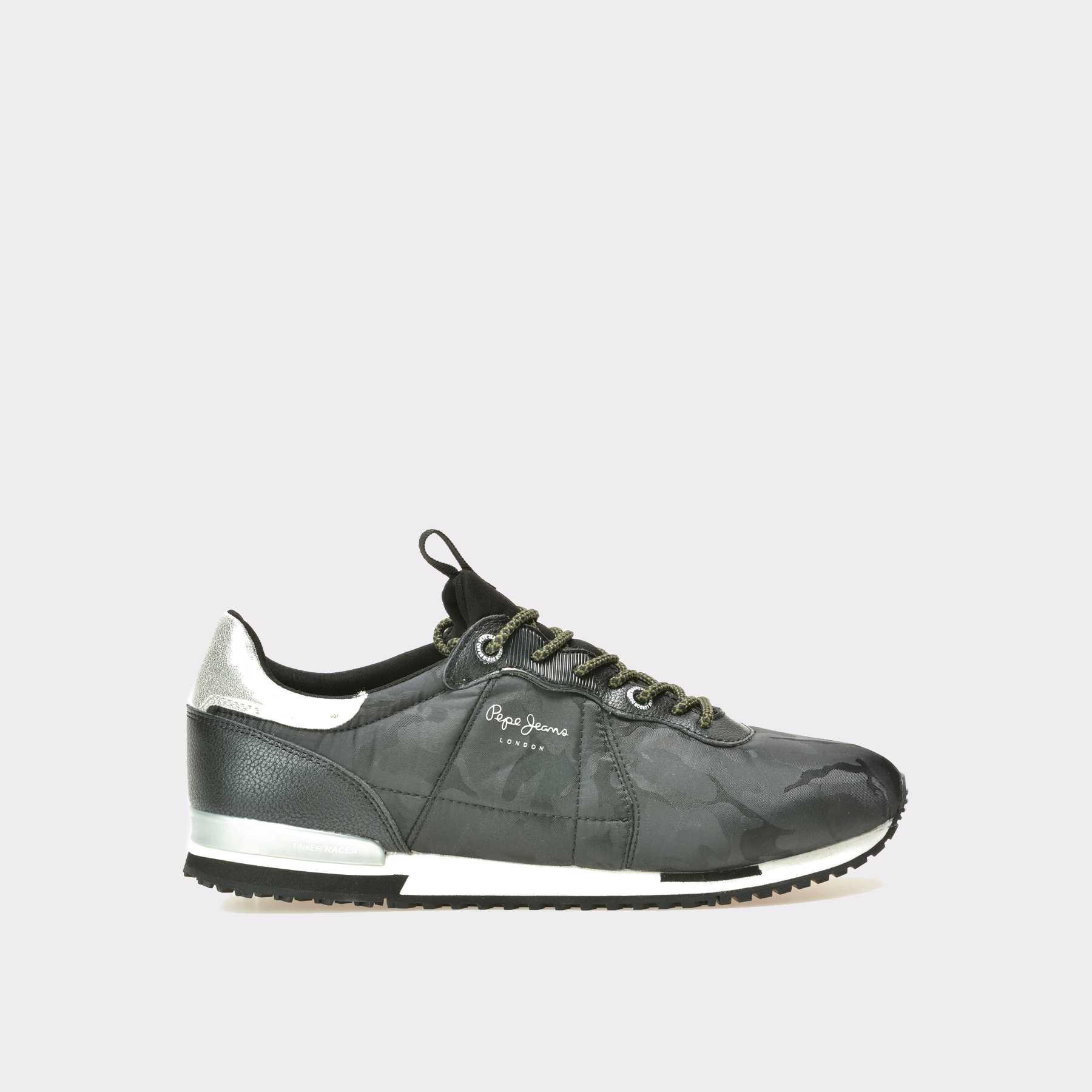 Pantofi barbati PEPE JEANS negri, Ms30379, din material textil