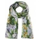 Esarfa cu imprimeu floral - Verde SSA0578ZI