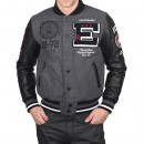 Geaca barbati Ecko Unlimited Varsity Wool Leather Jacket IF12-37181