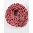 Fular tricotat - Roz SKM0067RO