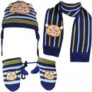 Set copii Fes Fular Manusi Ecko Unlimited Nino Bundle Beanie Gloves Scarf ETF11-6273 culoare albastru