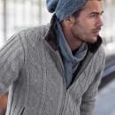 Jacheta imblanita cu guler inalt pentru barbati