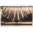 Champagne Metallic Clutch