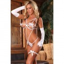 Lenjerie sexy Deep Secrets body white