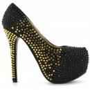 Pantofi Crazy Negri