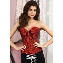 Corsete Overbust Red