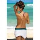 Fusta Meg Bianco-Turquoise