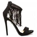Sandale cu toc Farel Negre