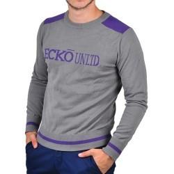 Pulover barbati Ecko Unlimited Take It Easy Sweater IF11-34421 culoare gri