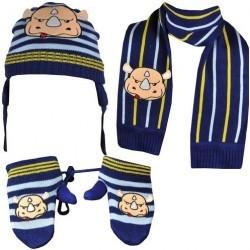 Set copii Fes Fular Manusi Ecko Unlimited Nino Bundle Beanie Gloves Scarf ETF11-6273 culoare albastru