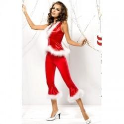 Costum de Craciunita Santa Lady pants+vest
