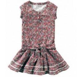 Rochie cu volane din bumbac pentru fete