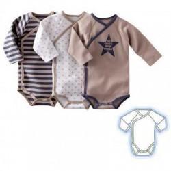 Set de 3 body-uri pentru bebelusi