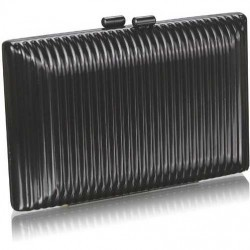 Black Hardcase Clutch