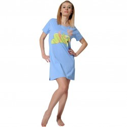 Camasa de noapte bleu model CN1