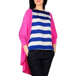 Cardigan ciclam din tricot D1911