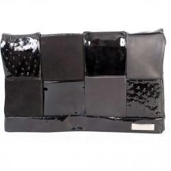 Plic Simina Filat negru din piele naturala SF025
