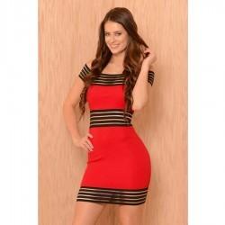 Rochii de club Red Striped