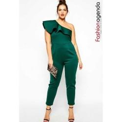 Salopeta cu Fodre Emerald Green