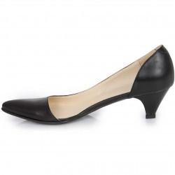Pantofi stiletto negri din piele naturala model PP-5519