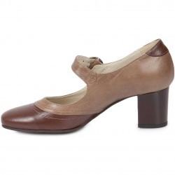 Pantofi trotteur in 2 culori din piele naturala model 272