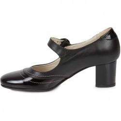 Pantofi trotteur negri din piele naturala model 272