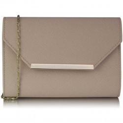 Poseta Nude Large Flap Clutch purse
